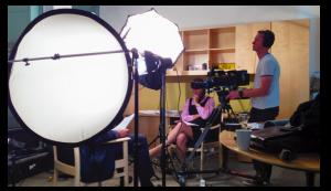 filming a talking head